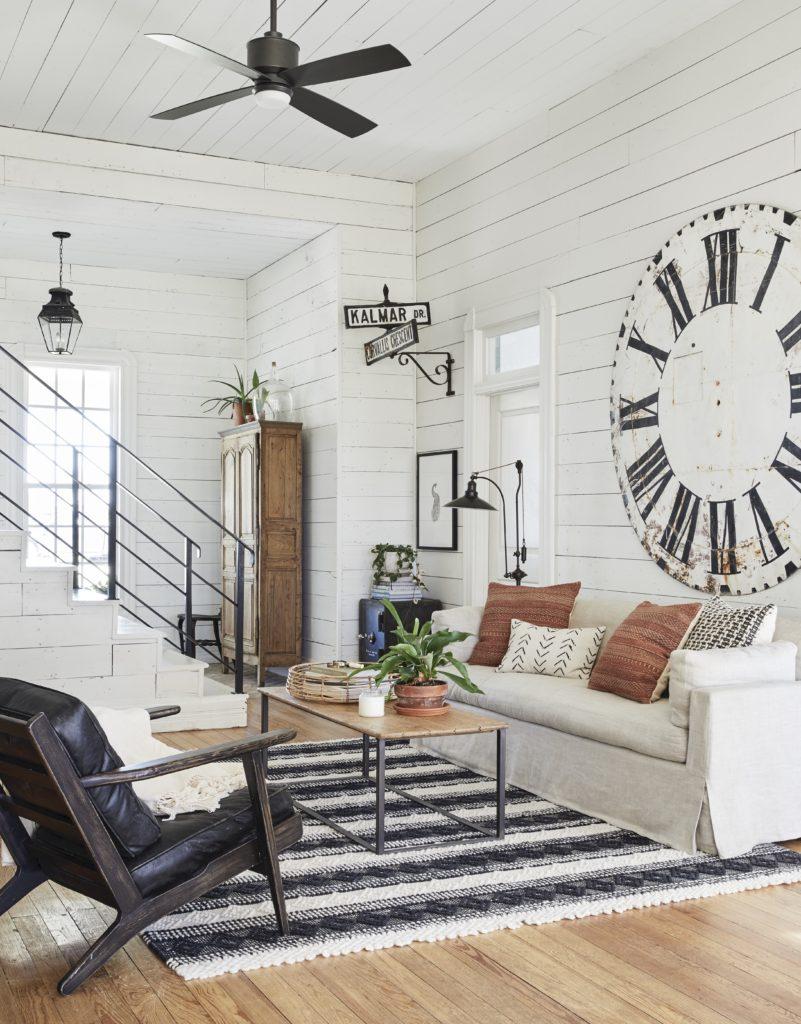 Joanna Gaines Farmhouse Living Room Fan